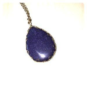 Francesca's navy blue precious stone necklace